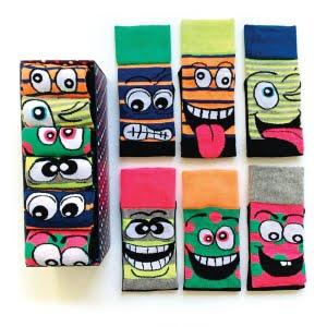 6'lı Rengarenk Karakterli Çorap Kutusu