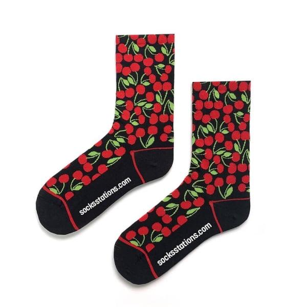 Kiraz Desenli Çorap
