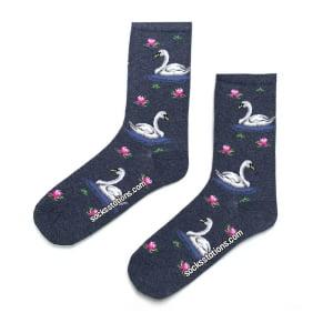 Kuğu Desenli Çorap