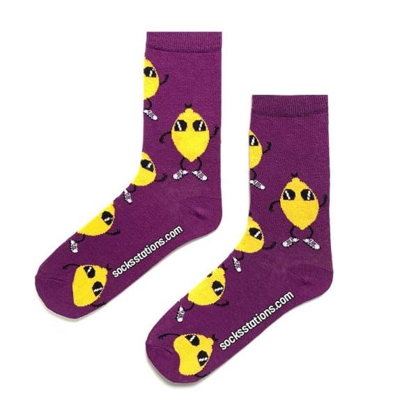 Limon Desenli Çorap