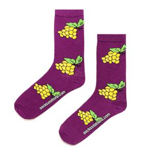 Sarı Üzüm Salkımı Desenli Çorapçorap