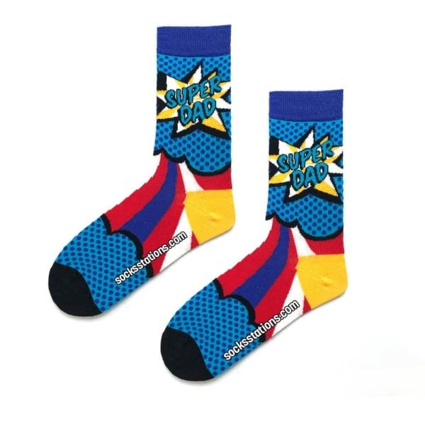 Super Dad Desenli Çorap