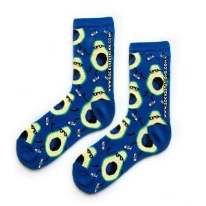 Mavi Gözlüklü Avokado Çorap