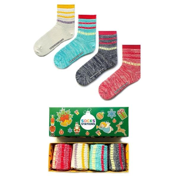4'lü Renkli Çorap Kutusu