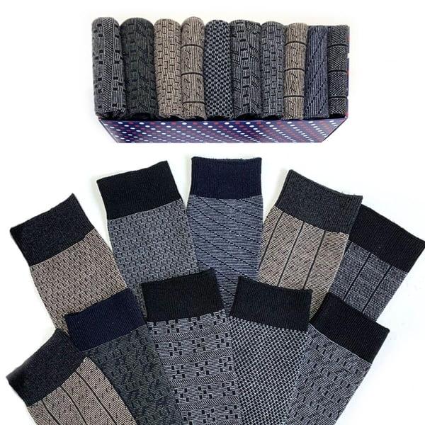 (43-47) 10'lu Klasik Erkek Çorap Kutusu(41-47)