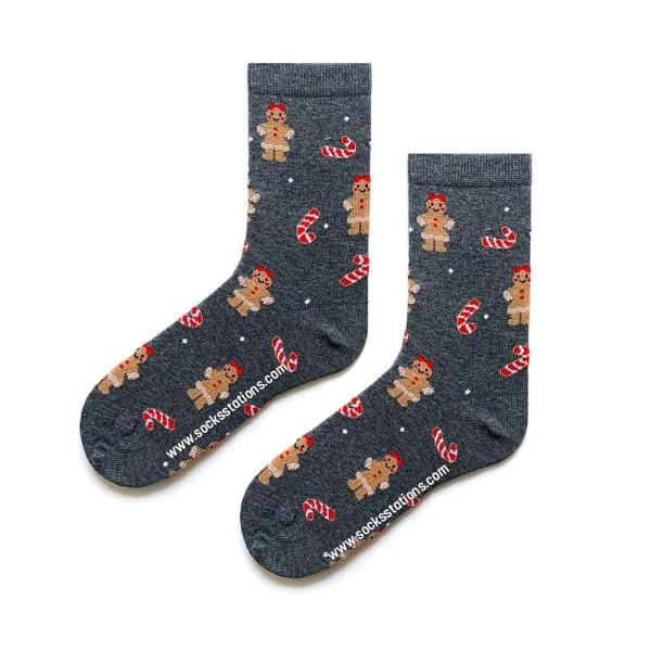 Yılbaşı Kurabiye Desenli Çorap