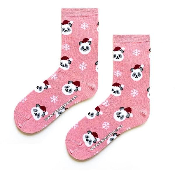 Pembe Şapkalı Panda Çorap