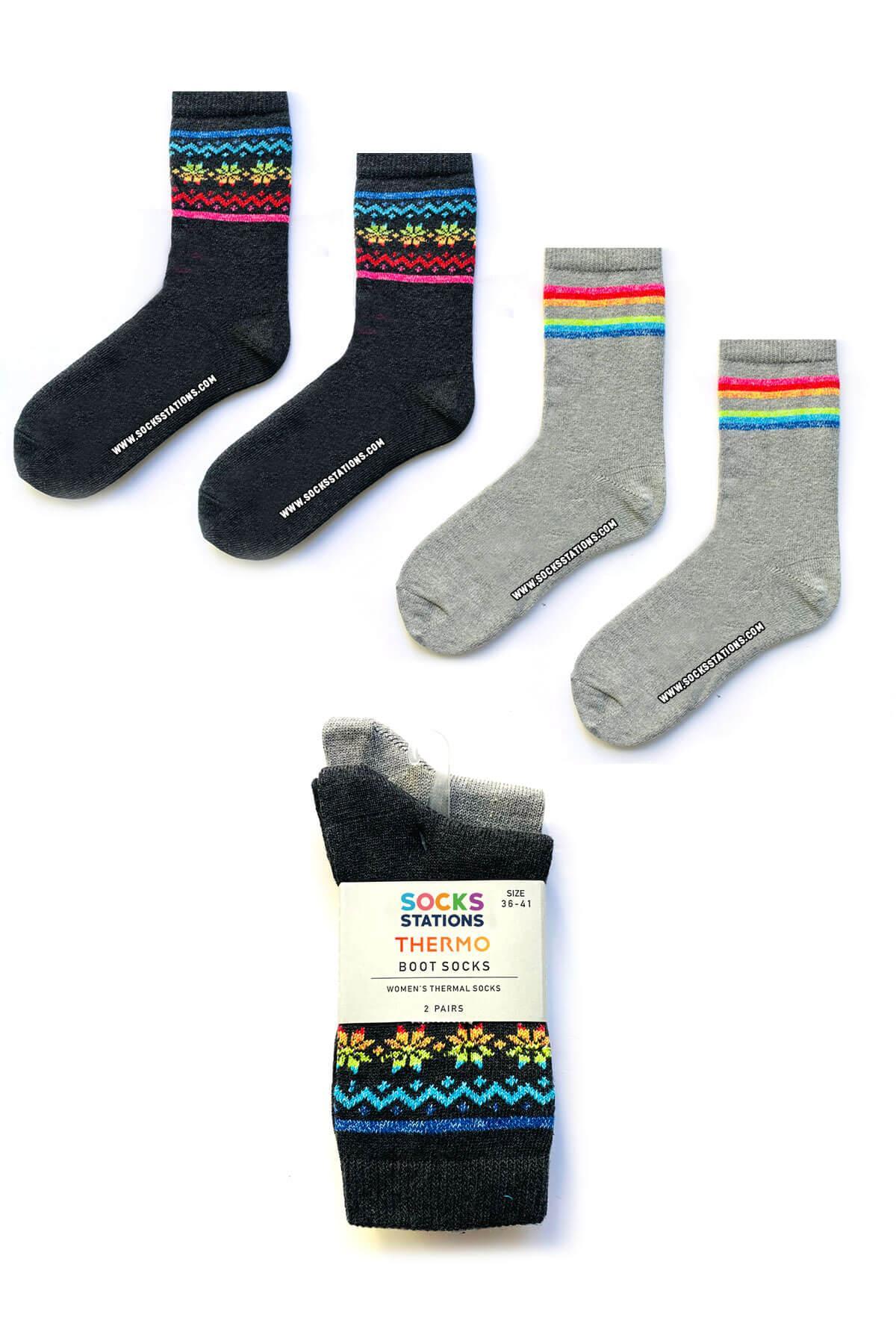 2li gri çorap