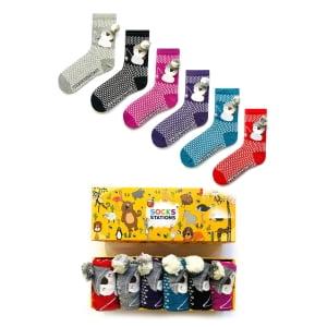 6'li Renkli Penguen Çorap Kutusu