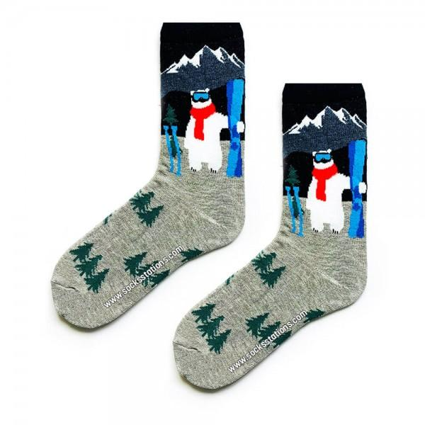 Kutup Ayısı Desenli Çorap