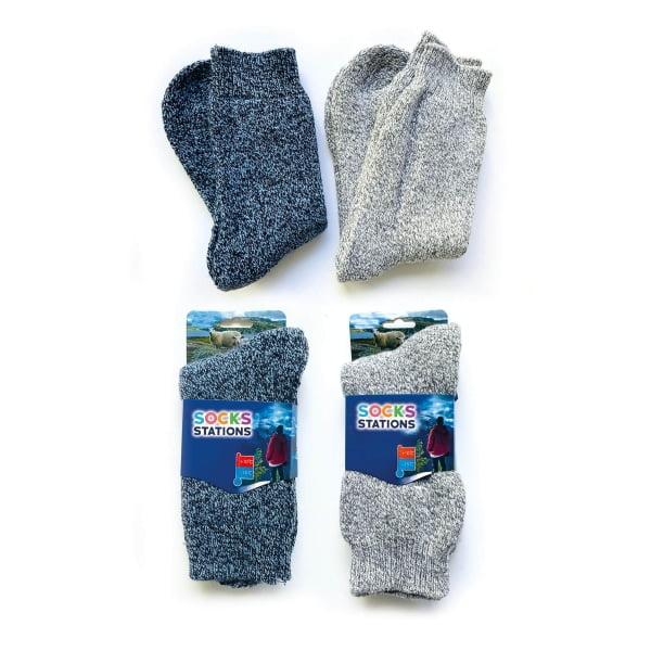 2'li Norveç Tipi Termal Havlulu Yün Kışlık Çorap 2