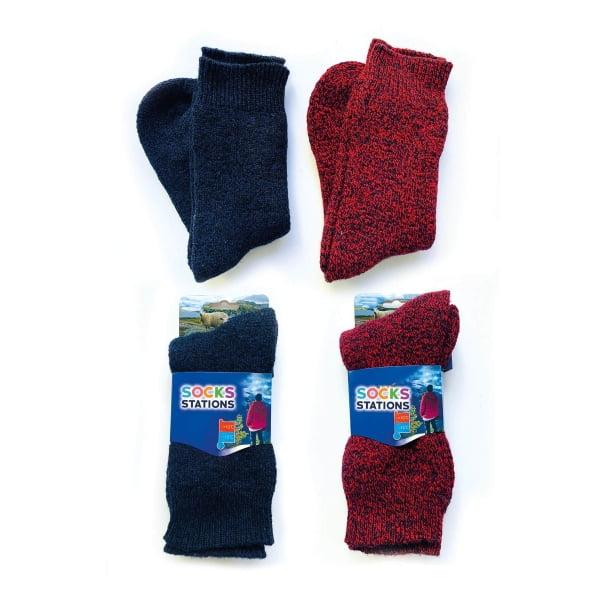 2'li Norveç Tipi Termal Havlulu Yün Kışlık Çorap 7