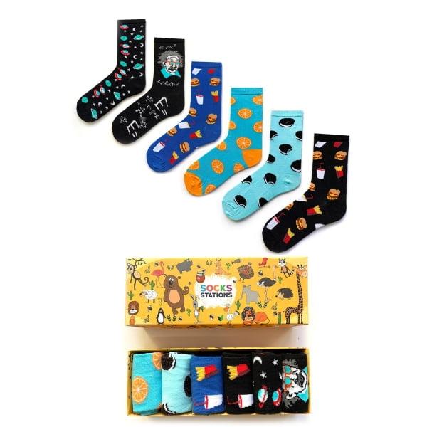 6'li Renkli Çocuk Çorap Kutusu 2