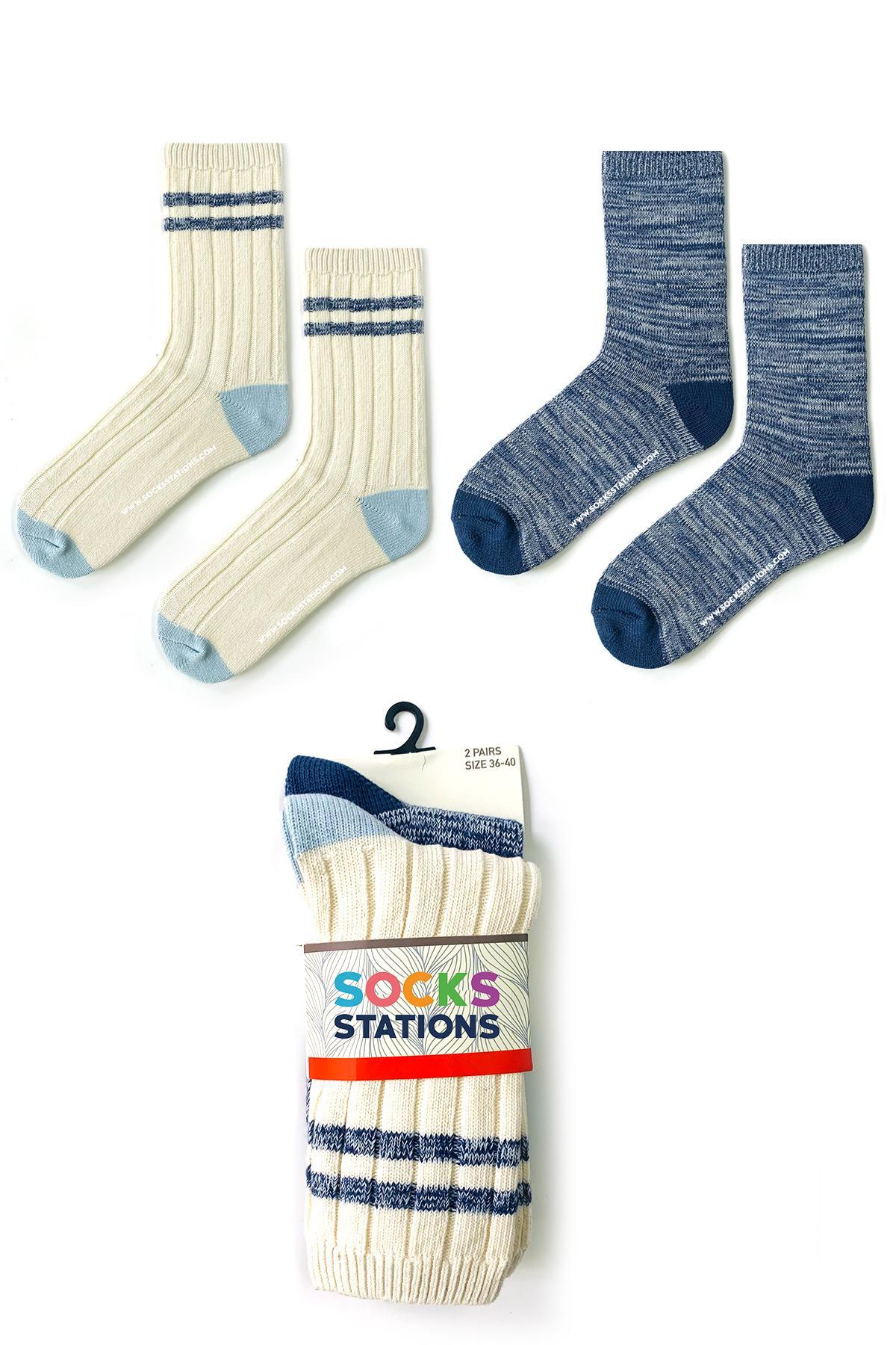 2'li yün çorap