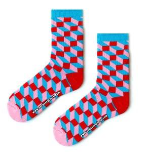3D Pembe Kırmızı Çorap