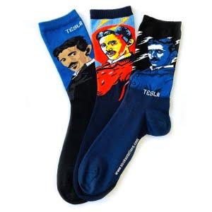 (42-46) 3'lü Erkek Tesla Desenli Çorap