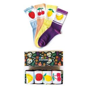 4'lu Meyve Desenli Çorap