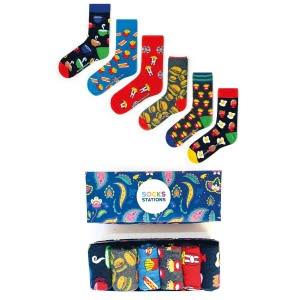 (42-46) 6'lı Erkek Patates Desenli Çorap Kutusu