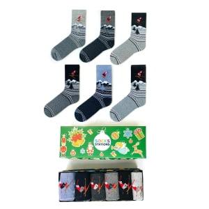 6'li Kaykay Kutu Çorap