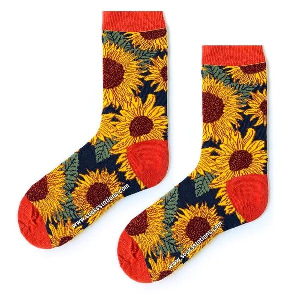 Ayçiçek Desenli Çorap