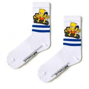 Bart Desenli Çorap