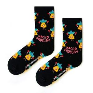 Gülen Cips Desenli Çorap