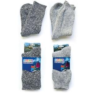 2'li Norveç Tipi Termal Havlulu Yün Kışlık Çorap 8