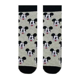 Gri Gülen Mickey Desenli Çorap