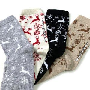 4'LÜ Kar Geyik Çorap