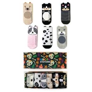6'lı Kulaklı Köpekcikler Bilek Çorap Kutusu