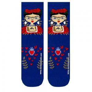 Mavi Frida Kahlo Çorap