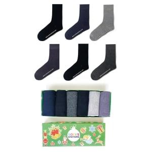 (42-46) 6'lı Erkek Bambu Çorap Kutusu