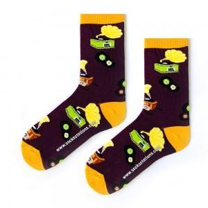 Plak Desenli Çorap