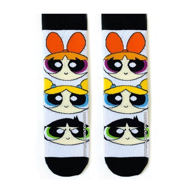Beyaz Powerpuff Girl Çorap