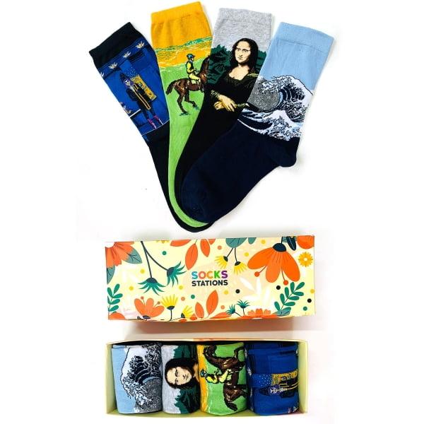4'lü Sanatsal Çorap Kutusu 1