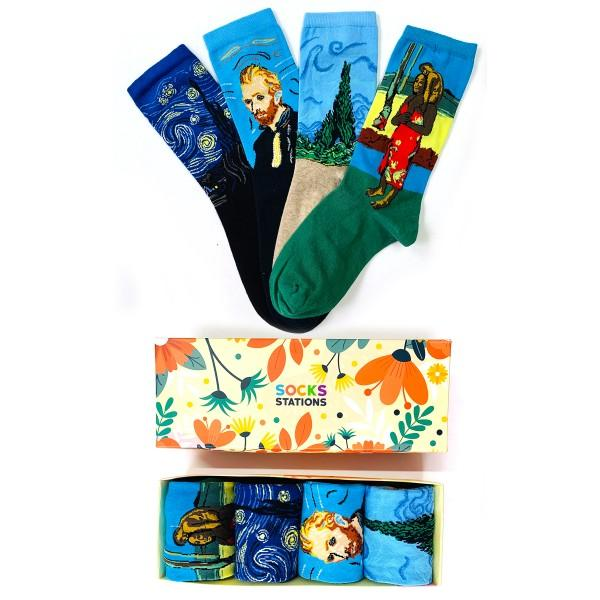 4'lü Sanatsal Çorap Kutusu 2