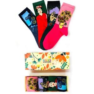 4'lü Sanatsal Çorap Kutusu 3