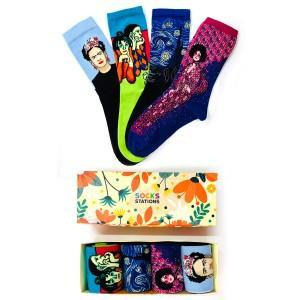 4'lü Sanatsal Çorap Kutusu 4