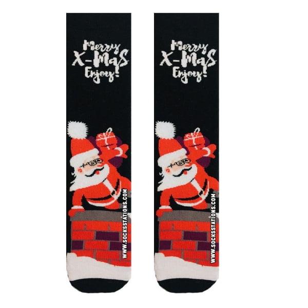 Yılbaşı Hediyeli Noel Baba Desenli Çorap