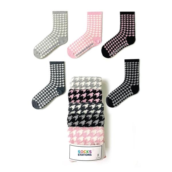 5'li Kaz Ayağı Desenli Çorap