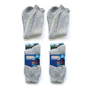 2'li Norveç Tipi Termal Havlulu Yün Kışlık Çorap 9