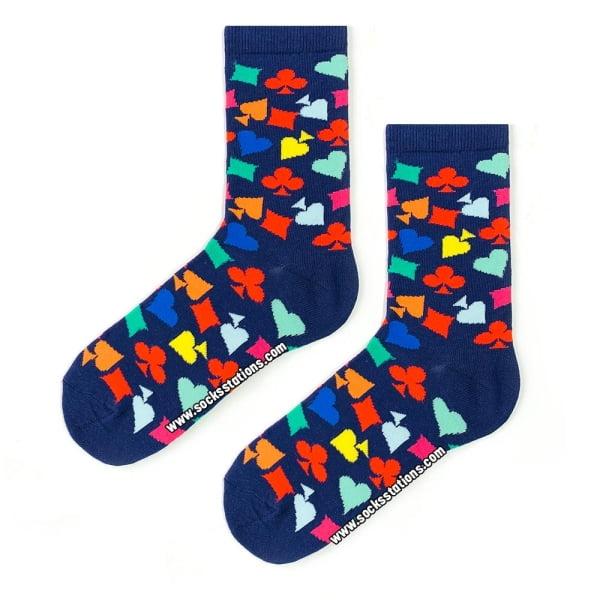 İskambil Desenli Çorap