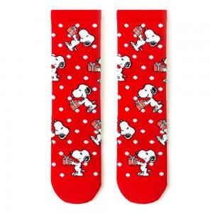 Kırmızı Hediyeli Snoopy Çorap