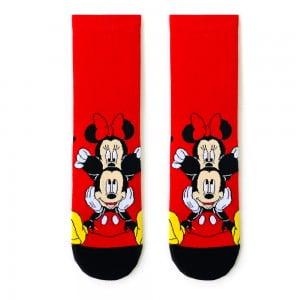 Kırmızı Mickey Mouse Çorap 2