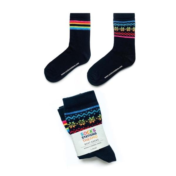 2'li Siyah Yün Çorap