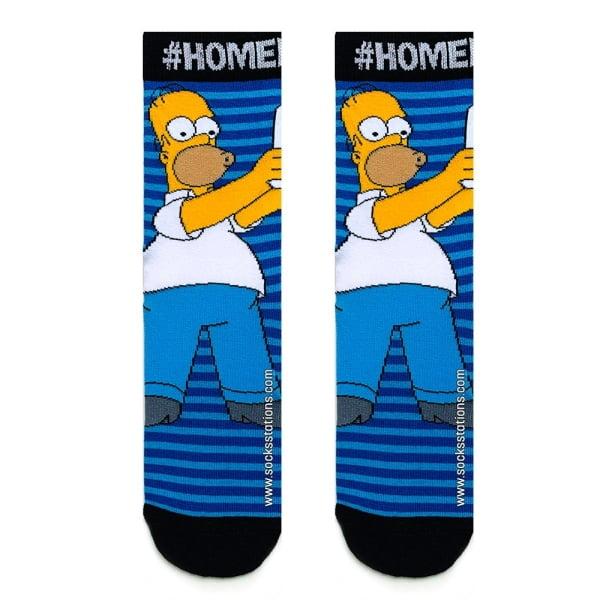 Lacivert Çizgili Homer Çorap