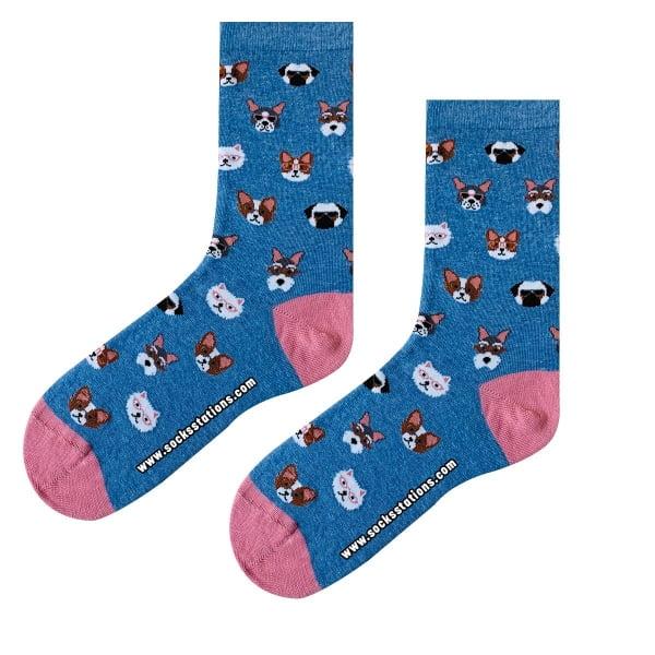 Mavi Köpekcik Çorap