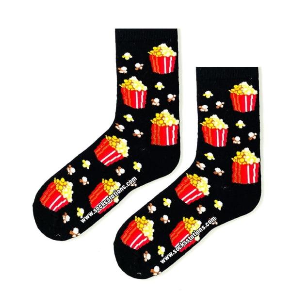 Minik Popcorn Desenli Çorap