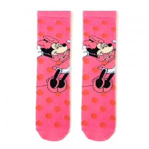 Pembe Puantiyeli Mickey Çorap