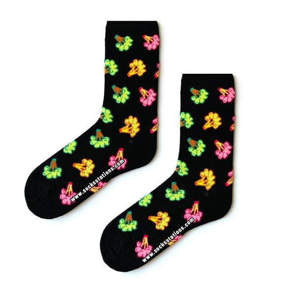 Renkli Siyah Brokoli Çorap